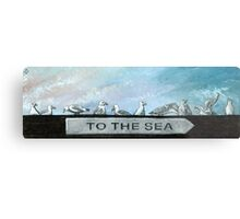 Ten Gulls Metal Print