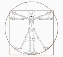Vitruvian Man Skeleton Cartoon  Baby Tee