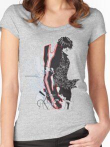 YASUTORA SADO CHAD Women's Fitted Scoop T-Shirt