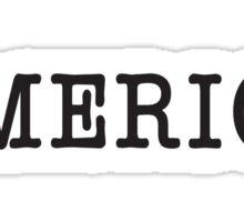 America, Typewriter, Font, Pure & Simple Sticker