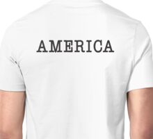 America, Typewriter, Font, Pure & Simple Unisex T-Shirt