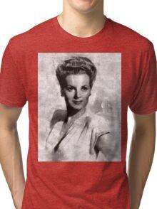 Maureen O'Hara by Mary Bassett Tri-blend T-Shirt