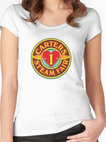 I Love Carters - circle Women's Fitted Scoop T-Shirt