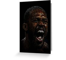 Jon Jones, Greatest Of All Time (SuperImposed) Greeting Card