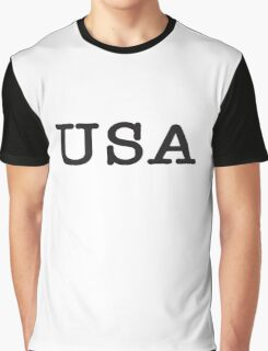 USA, United States of America, Typewriter Font, Pure & Simple Graphic T-Shirt