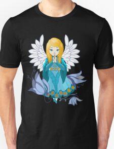 Cute praying Angel girl. Cartoon illustration T-Shirt