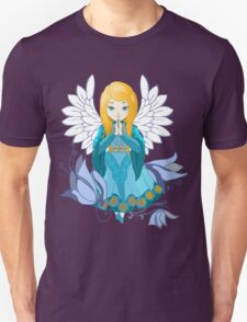 Cute praying Angel girl. Cartoon illustration Unisex T-Shirt