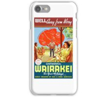 New Zealand Wairakei Vintage Travel Poster iPhone Case/Skin