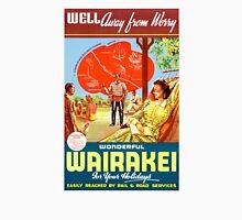 New Zealand Wairakei Vintage Travel Poster Unisex T-Shirt
