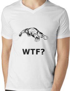 Platypus WTF Mens V-Neck T-Shirt