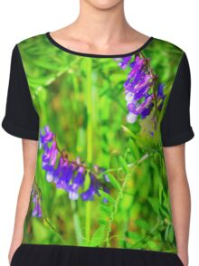 Early Wildflowers Women's Chiffon Top