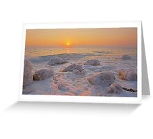 Sun rising over the Dead Sea, Israel  Greeting Card