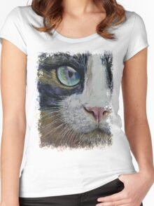 Snowshoe Cat Women's Fitted Scoop T-Shirt