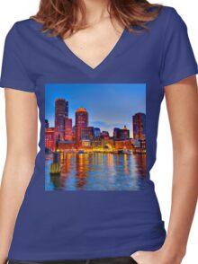 Boston Harbor Women's Fitted V-Neck T-Shirt