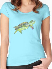 Sea turtle drawing - 2015 Women's Fitted Scoop T-Shirt