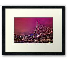 Zakim bridge, Boston MA Framed Print