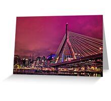 Zakim bridge, Boston MA Greeting Card