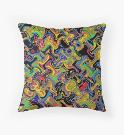 Primary & Secondary Color Design 2Q Throw Pillow