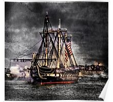 World's oldest commissioned warship afloat - USS CONSTITUTION Poster