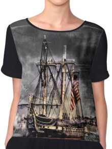 World's oldest commissioned warship afloat - USS CONSTITUTION Chiffon Top
