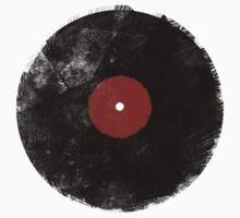 Grunge Vinyl Record Kids Tee