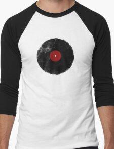 Grunge Vinyl Record Men's Baseball ¾ T-Shirt