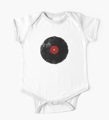 Grunge Vinyl Record One Piece - Short Sleeve