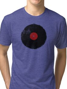 Grunge Vinyl Record Tri-blend T-Shirt