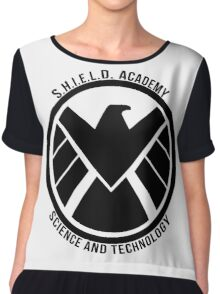 S.H.I.E.L.D. Academy Sci-Tech (Black) Chiffon Top