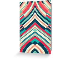 Coloured Lines Greeting Card
