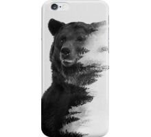 bear graphic nature photography iPhone Case/Skin