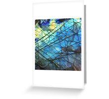 Royal Blue Labradorite Greeting Card