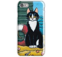 A Cat's Day Out at the Beach iPhone Case/Skin