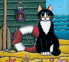 A Cat's Day Out at the Beach by Lisa Marie Robinson