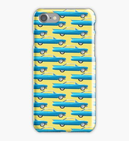 1960 Cadillac Coupe De Ville on Yellow iPhone Case/Skin