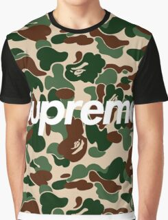 Supreme x Bape Box Logo Camo Graphic T-Shirt