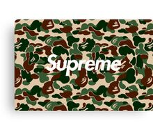 Supreme x Bape Box Logo Camo Canvas Print