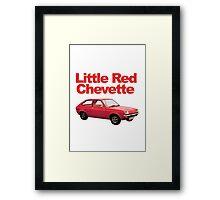Little Red Chevette Framed Print