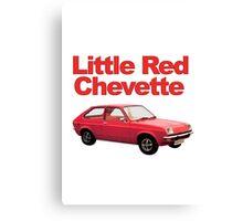 Little Red Chevette Canvas Print