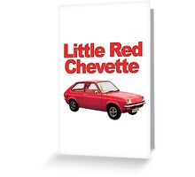 Little Red Chevette Greeting Card