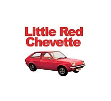 Little Red Chevette Photographic Print