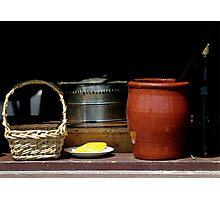 Old Kitchen Window Ensemble Photographic Print
