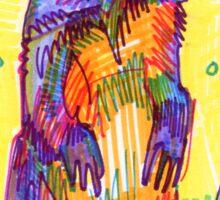 Groundhog drawing - 2011 Sticker