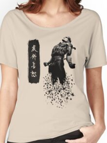 Metal Gear Solid 4 - Dissolving Snake Women's Relaxed Fit T-Shirt
