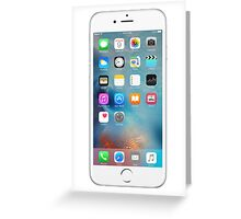 iphone 6 white front  Greeting Card