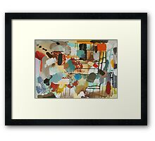 """Singing in the Rain Print from """"Singing in the Rain"""" Painting by Jenny Meehan Framed Print"""