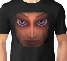 Mesmerizing Purple Eyes Girl Portrait Unisex T-Shirt