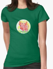 Piglet drawing - 2011 Womens Fitted T-Shirt