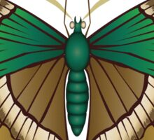 Emerald Butterfly Sticker