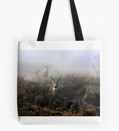 The rut is on! - White-tailed deer  Tote Bag